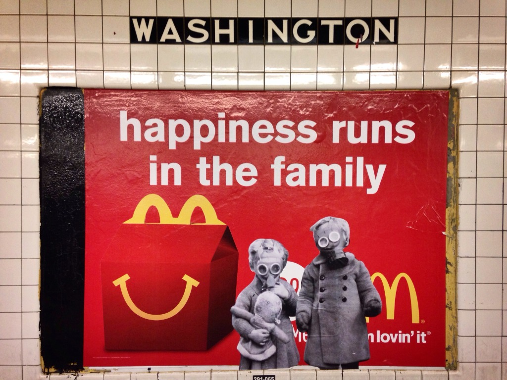Siblings:Happiness runs in the family. McDonalds Ad Hack. (Clinton-Washington; Queens bound G)