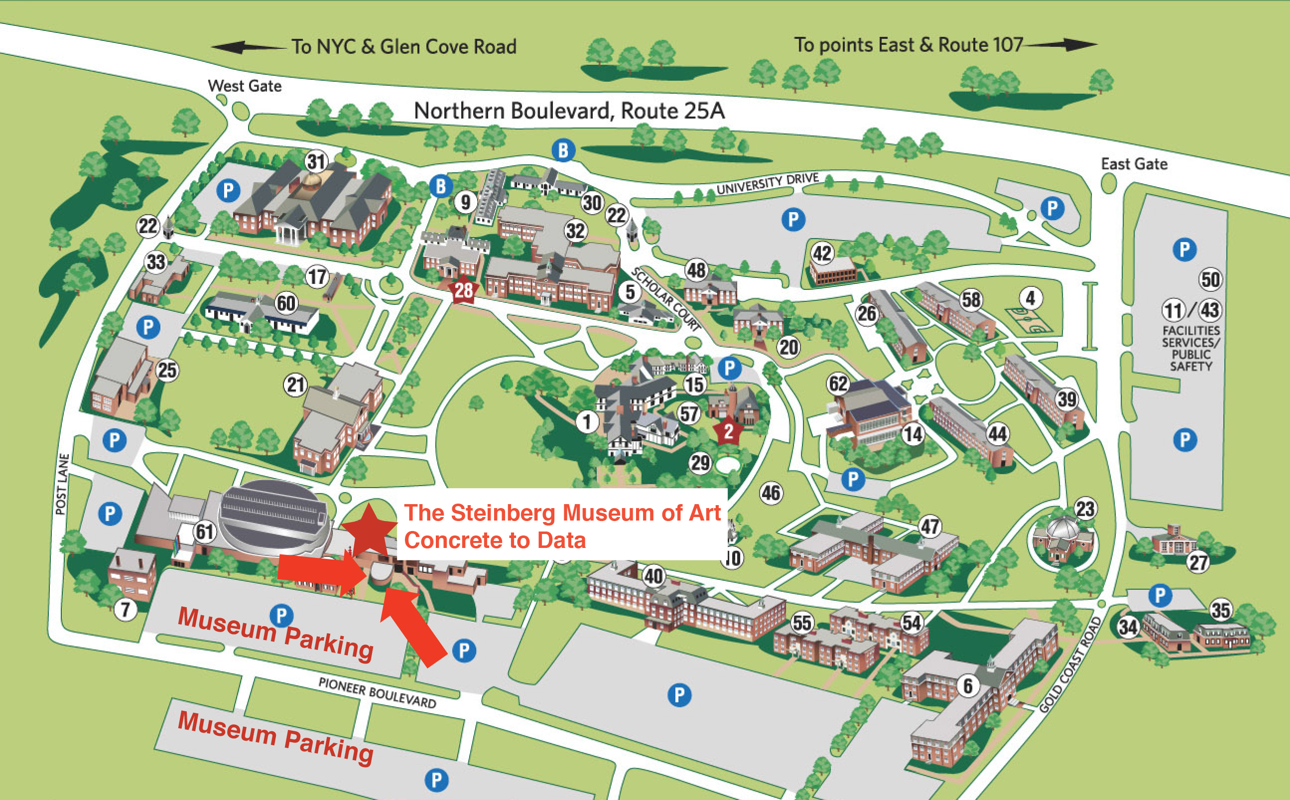 Liu Post Campus Map LIU Post campus map | Concrete to Data