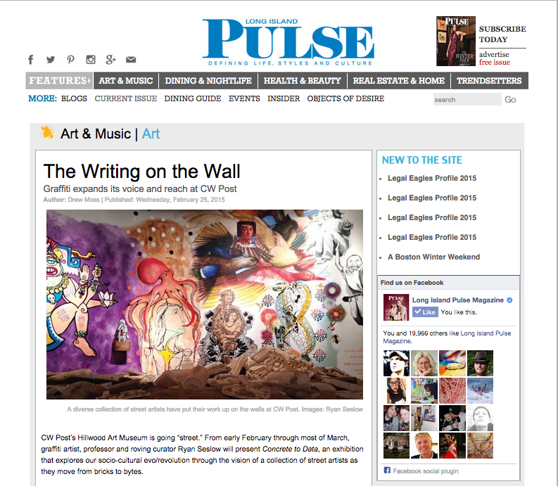 The Writing on the Wall   Long Island Pulse Magazine   Covering Long Island s lifestyles  arts  fashion  business  nightlife and entertainment copy